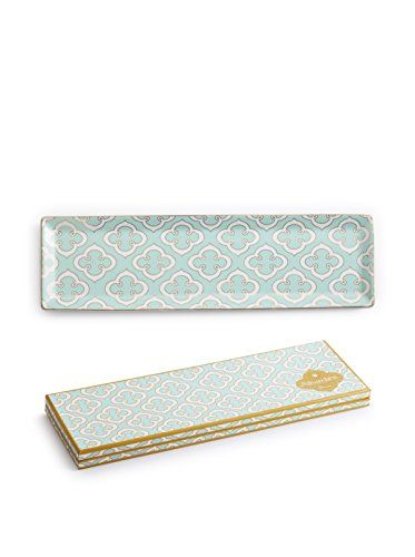 www.myhabit.com  Update your tabletop or vanity with this chic design featuring a 1960s-inspired quatrefoil motif in cool pastel hues with 24K gold details; arrives in an elegant gift box