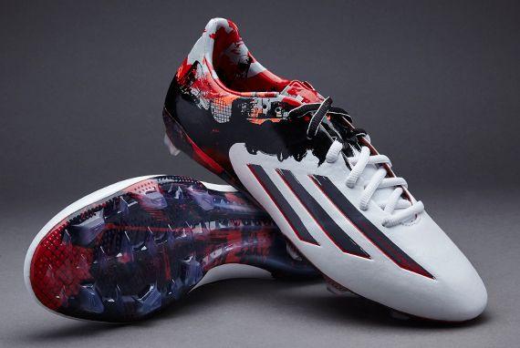 outlet store bf0d4 6c256 adidas Messi Pibe De Barr10 10.1 FG - White Granite Scarlet