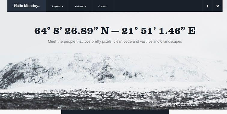 Hello Monday homepage clean web design modern responsive web inspiration