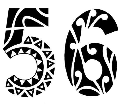 Tattoo Designs Numbers: Tribal Number Tattoo
