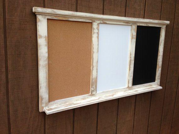 Bulletin Combo Board Chalkboard Dry Erase By Rayscustomwoodwork 190 00