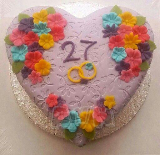 27 jaar getrouwd 27 jaar getrouwd | Mijn taarten | Pinterest 27 jaar getrouwd
