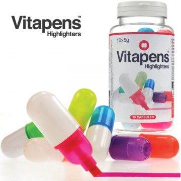 frasco de marcadores en pastillas vitapens tienda de regalos originales