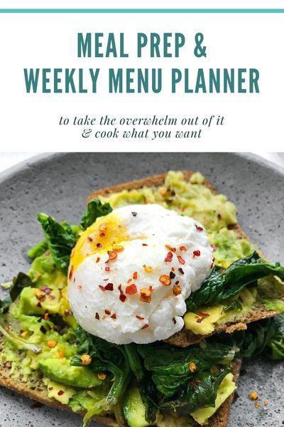 Meal Prep Recipe Planner and Weekly Menu Planning Printable