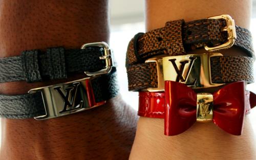 LV Leather Wrap bracelet w/ hardware