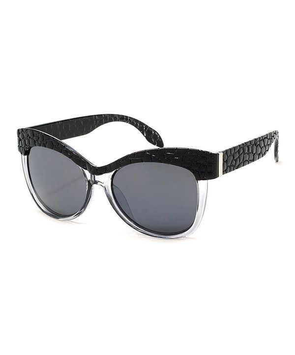 936dd3849 This A.J. Morgan Black Crocodile Rodeo Sunglasses by A.J. Morgan is perfect!  #zulilyfinds