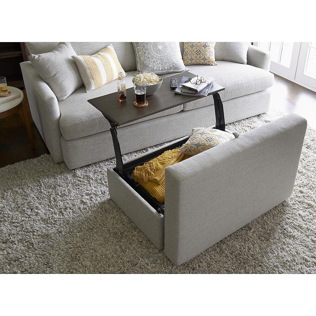 Lounge II Storage Ottoman With Tray Home Lounge Sofa Living Room Sets Lounge