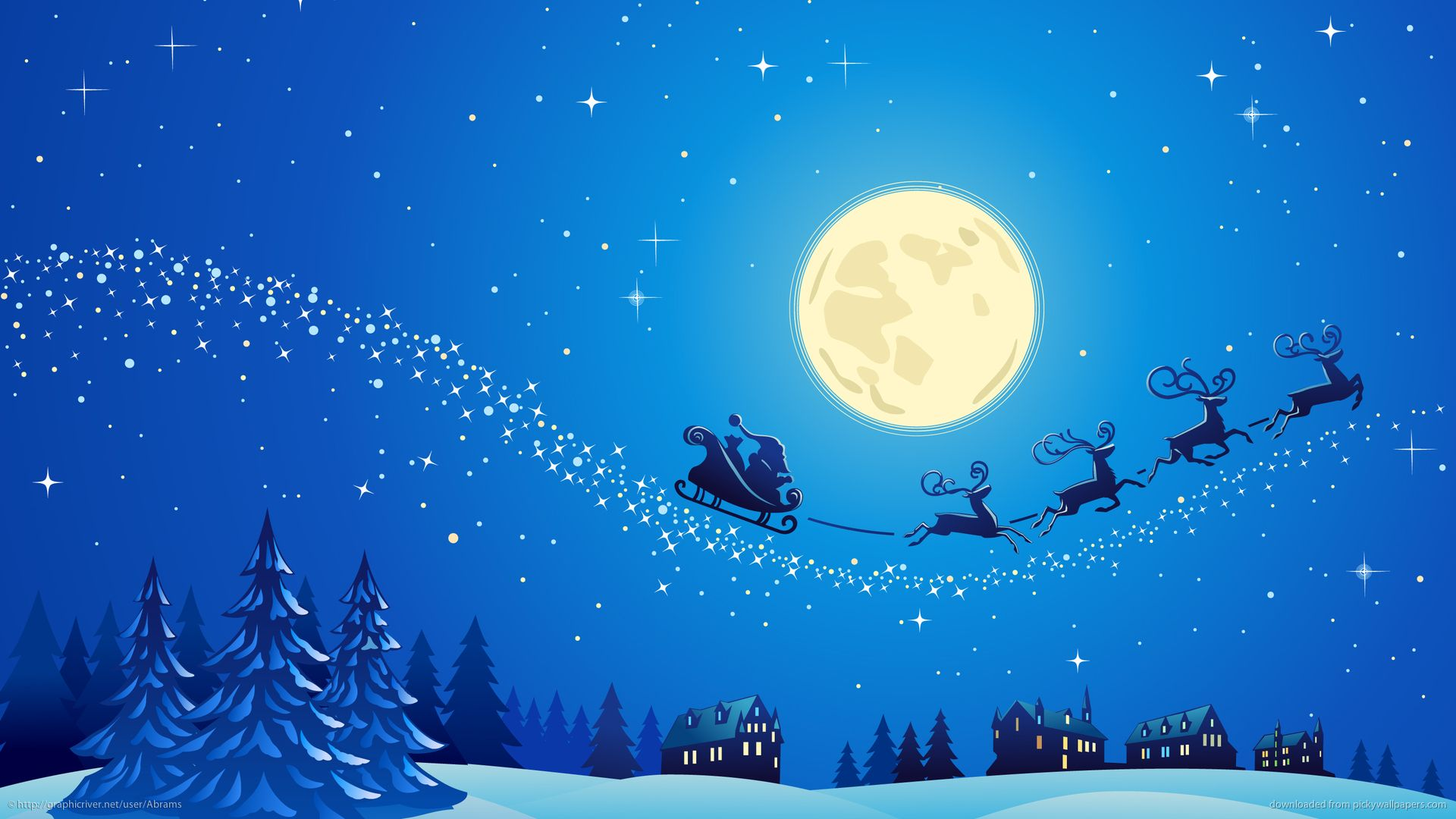 Http Wallpaper Pickywallpapers Com 1920x1080 Santa Into The Winter Christmas Night 2 Jp Christmas Wallpaper Hd Christmas Wallpaper Cute Christmas Backgrounds