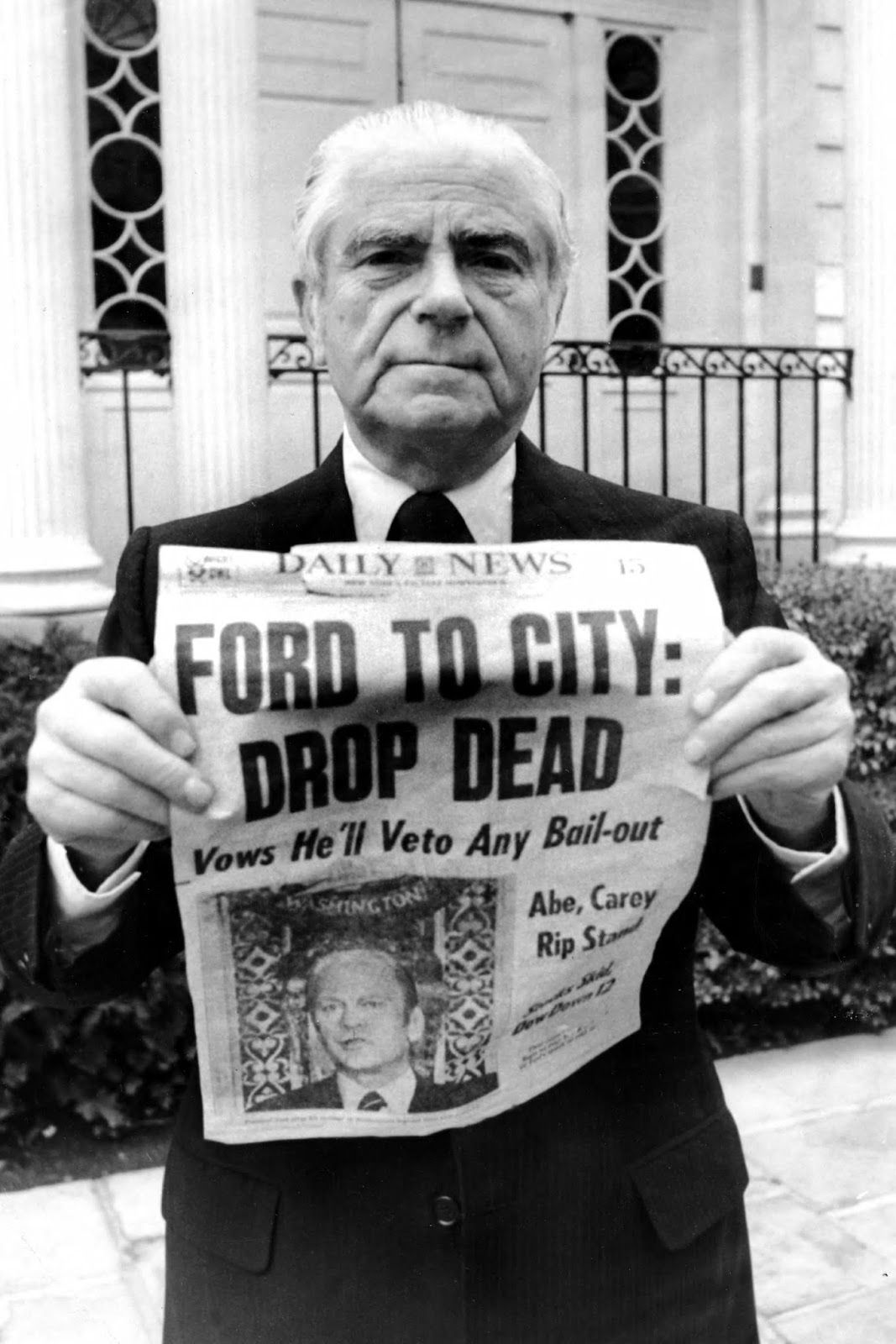 Ford To City Drop Dead 1975 City New York York