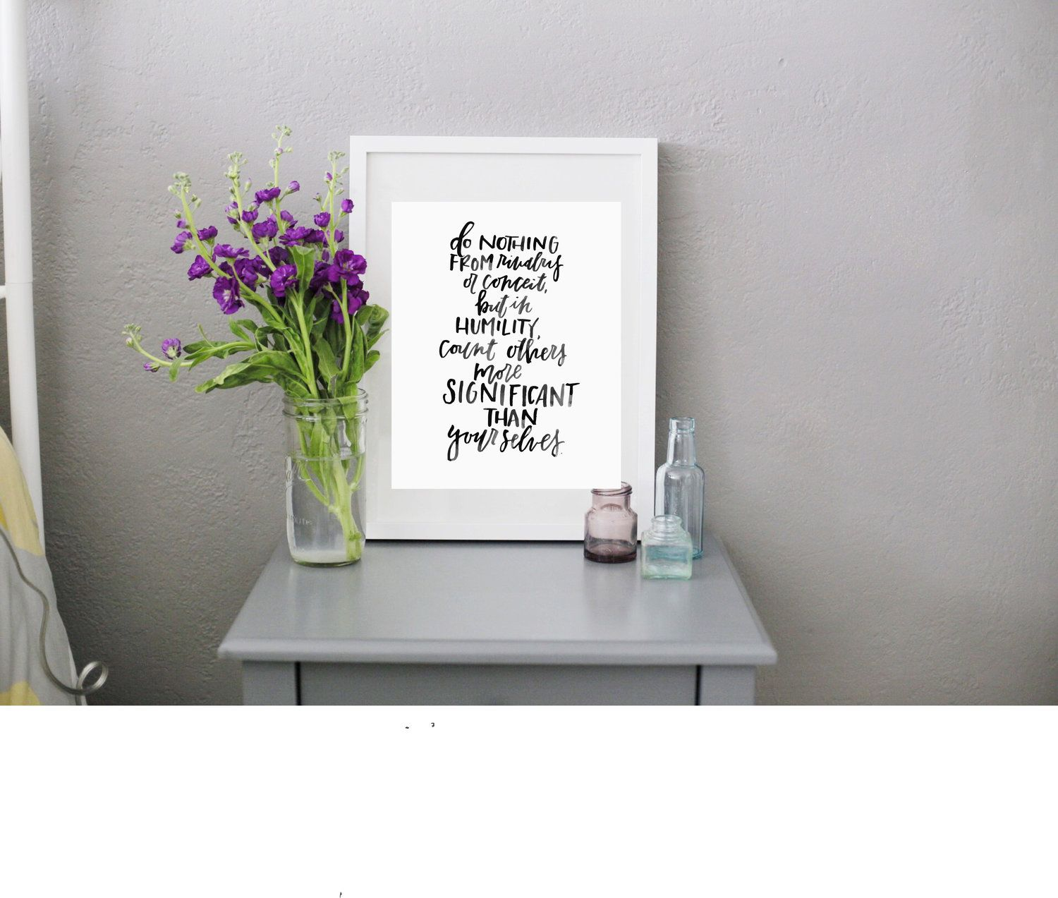 Philippians 23 Digital Download Calligraphy Print From Rachel Allene