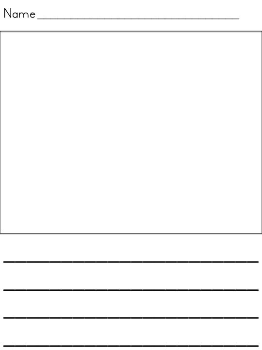 writing paper for kids with drawing box - Google Search School - lined paper with drawing box