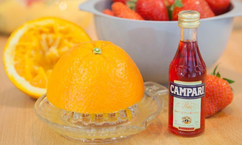 Campari-Erdbeer-Marmelade