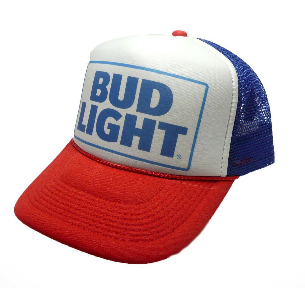 BUD Light beer trucker hat mesh hat script red white blue vintage Budweiser  hat  truckerhats  Trucker 46e4c0e7a3c0