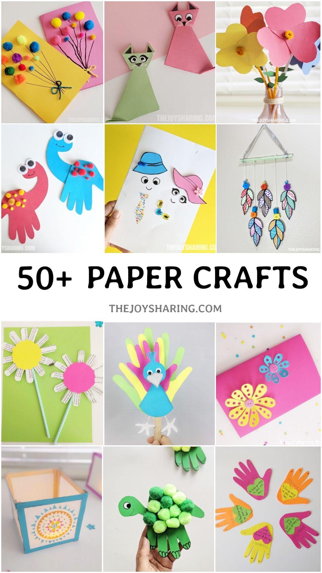 50 Paper Crafts For Kids In 2020 Paper Crafts For Kids Crafts