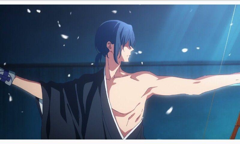 recuerdo de minato de masa san anime tsurune kazemai koukou kyuudoubu 2019 anime drawings boy anime anime love