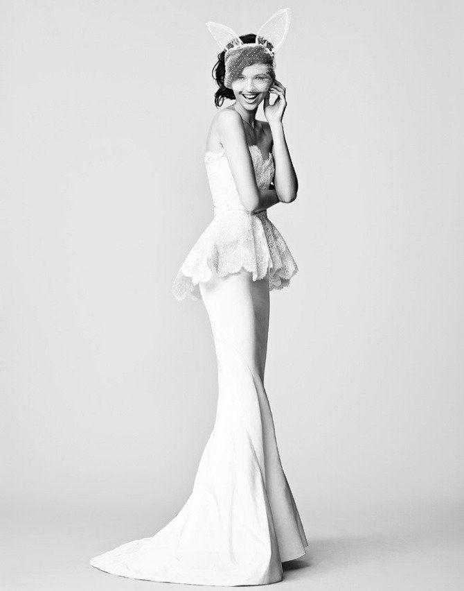 Oscar de la Renta Bridal Gown in Brides UK (2013)