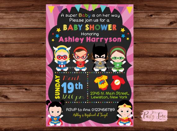 Superhero Baby Shower Invitation S Invitatio