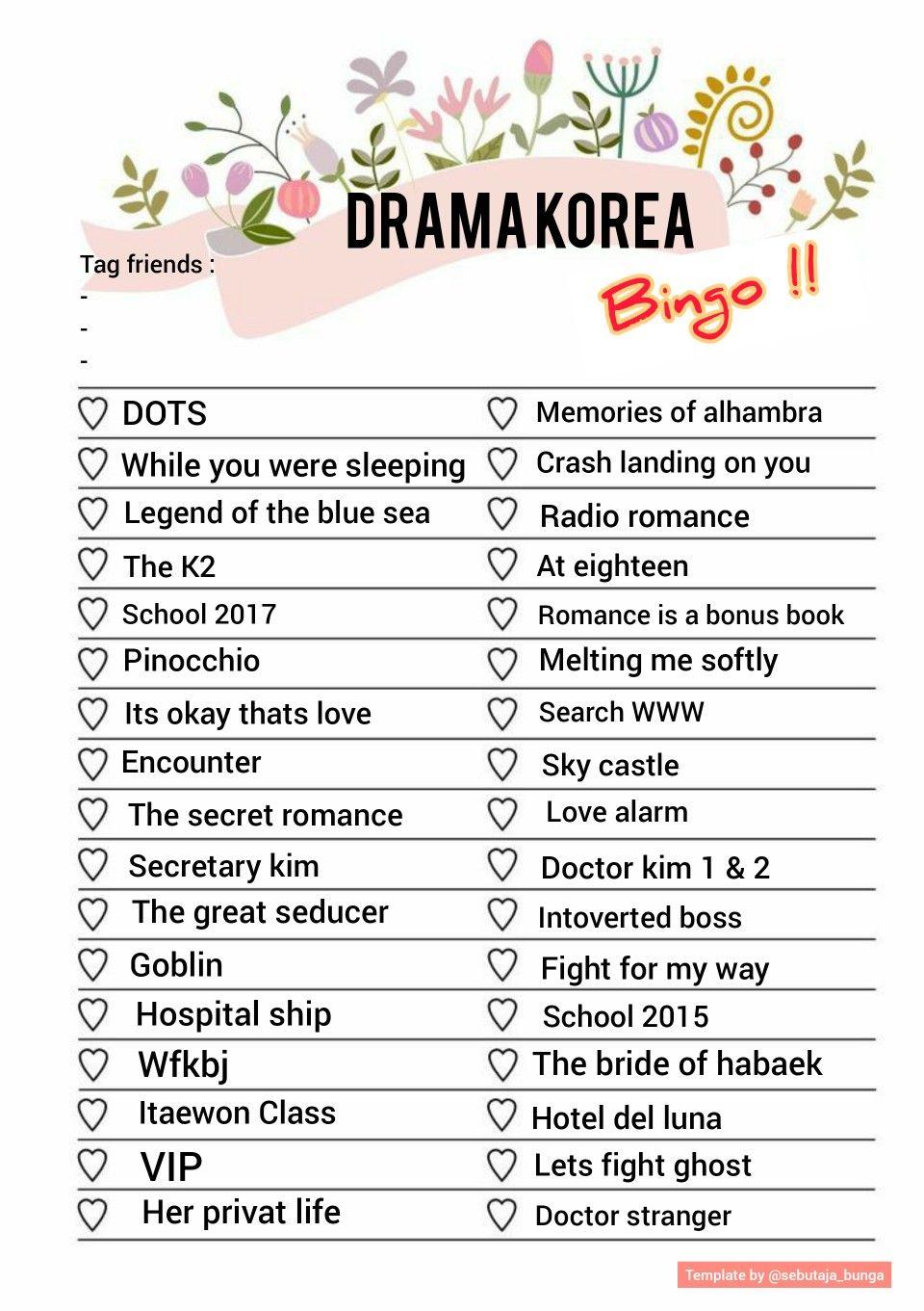 Drama Korea Bingo Korean Drama List Korean Drama Tv Korean Drama