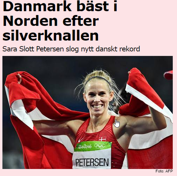 The major Swedish newspaper Aftonbladet surrenders after new Danish medal: You are the best in the Nordic countries. Denmark has now reached 13 medals at the Olympics. Only New Zealand has more medals per. capita at the Olympic Games,