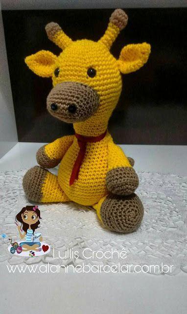 Mini Girafa Receita de Amigurumi de Crochê por Little Bear Crochets | 640x382