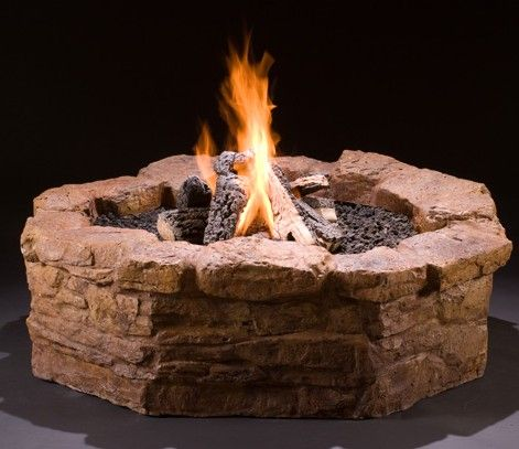 Get it all in this DIY gas fire pit kit: Surround, Valve ...