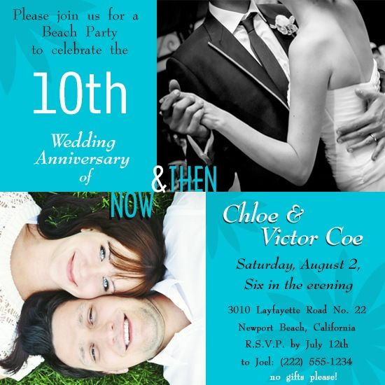 outdoor contemporary 10 year wedding anniversary ideas Google – 10th Wedding Anniversary Party Invitations
