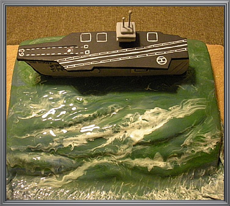 How to make aircraft carrier cake