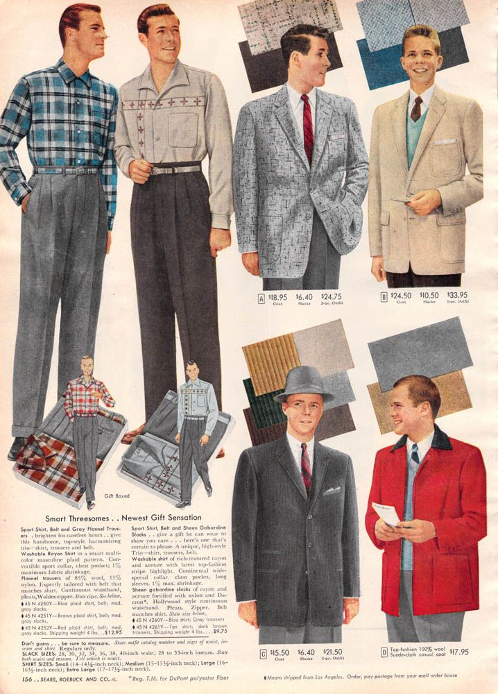 1956 mens trousers pantalons hommes ann es 50 usa pinterest pantalon homme mode ann es 40. Black Bedroom Furniture Sets. Home Design Ideas