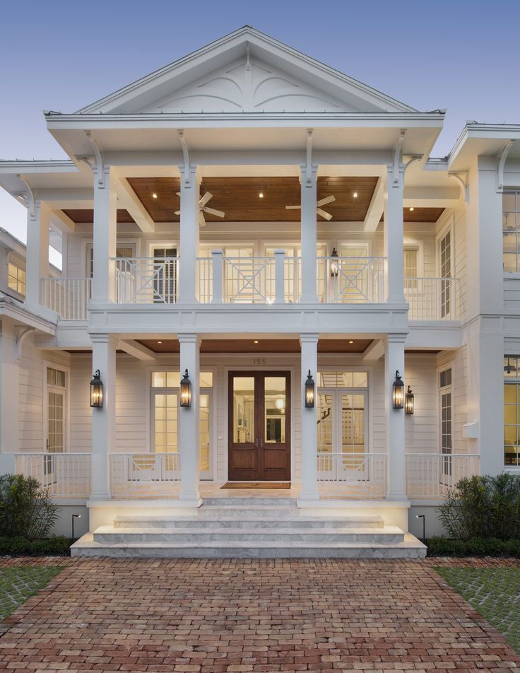 Architecture Homes Cottages Olde Florida and West Indies style architecture come together in this downtown Naples cottage designed by Weber Design Group Inc