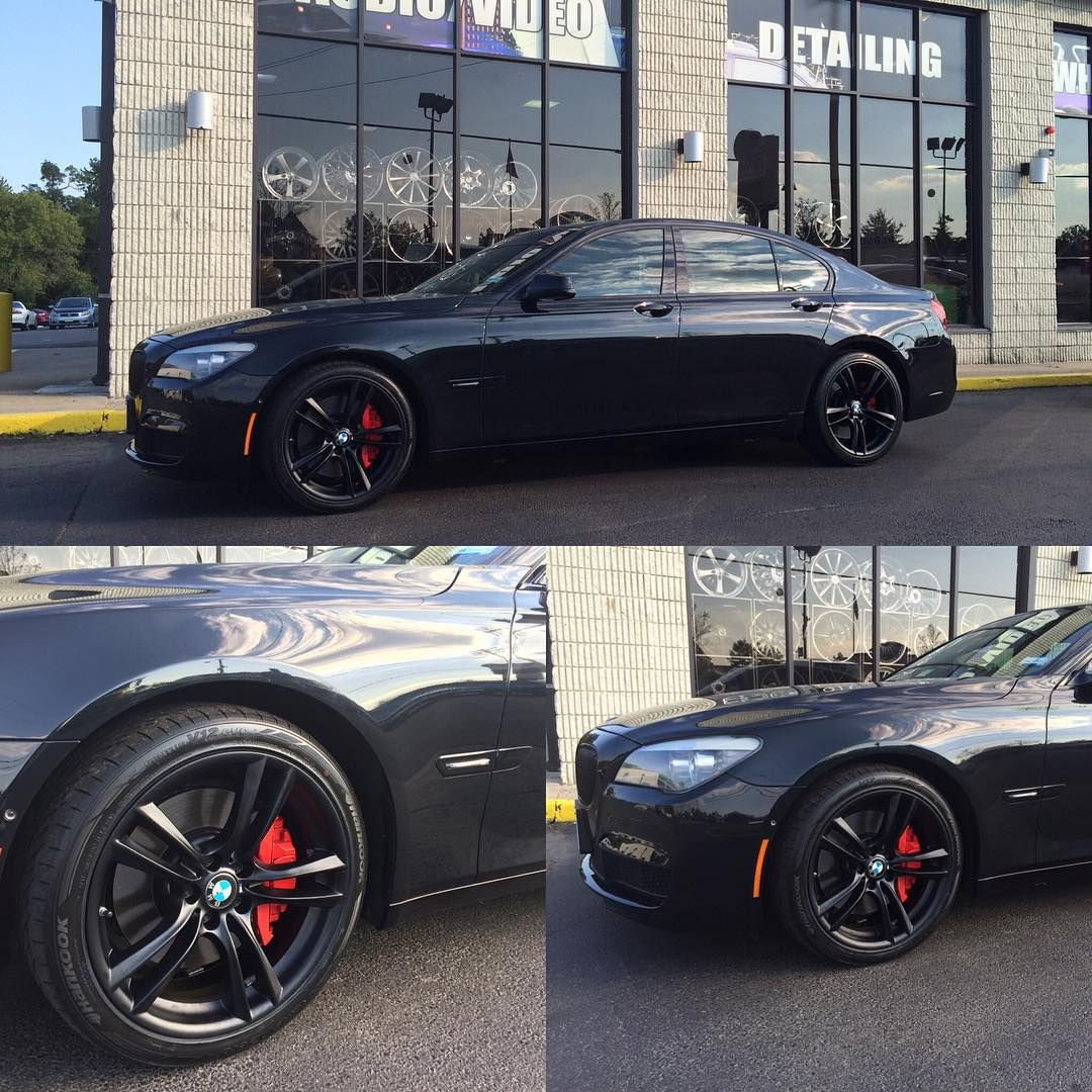 Bmw 750 Satin Black Powder Coated M Sport Wheels. #bmw #750li #houseofdubs