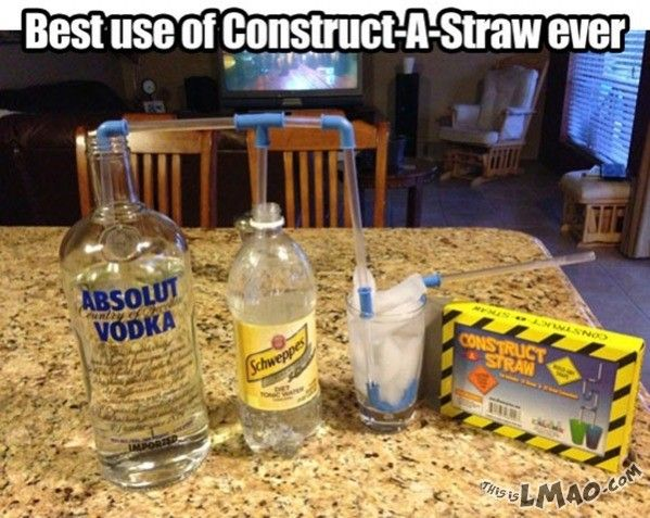 Will this make you laugh? Construct a straw | #straw, #construct, #make, #drink, #funny
