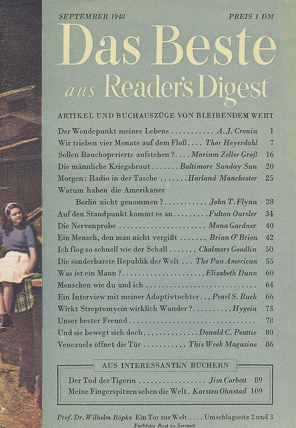 Das Beste aus Reader's Digest - September 1948: So sah sie ...
