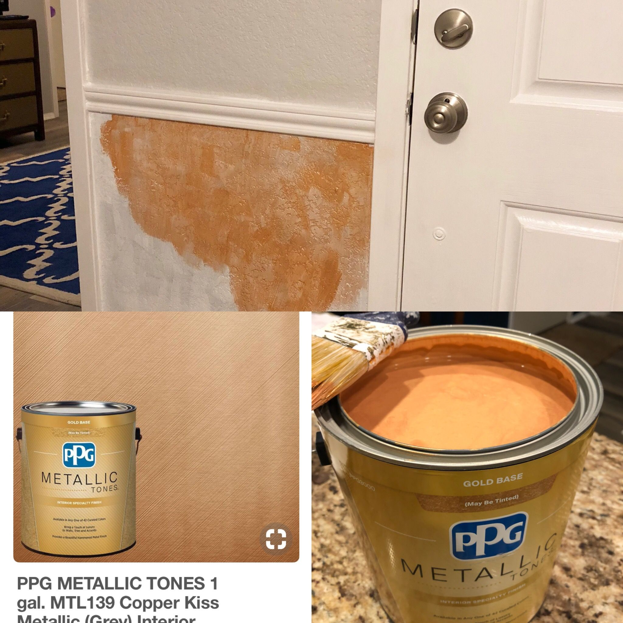 Superbe PPG Metallic Tones Interior Paint: Copper Kiss Is Very Orange. Virginia  House, Interior