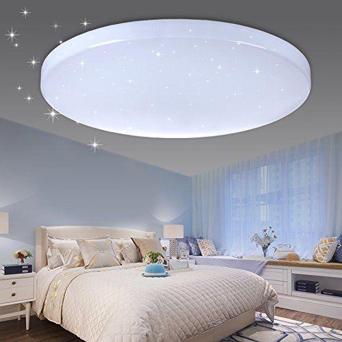 VINGO® LED Deckenleuchte Sternenhimmel Effekt 50W kaltwei   - led wohnzimmer deckenleuchte