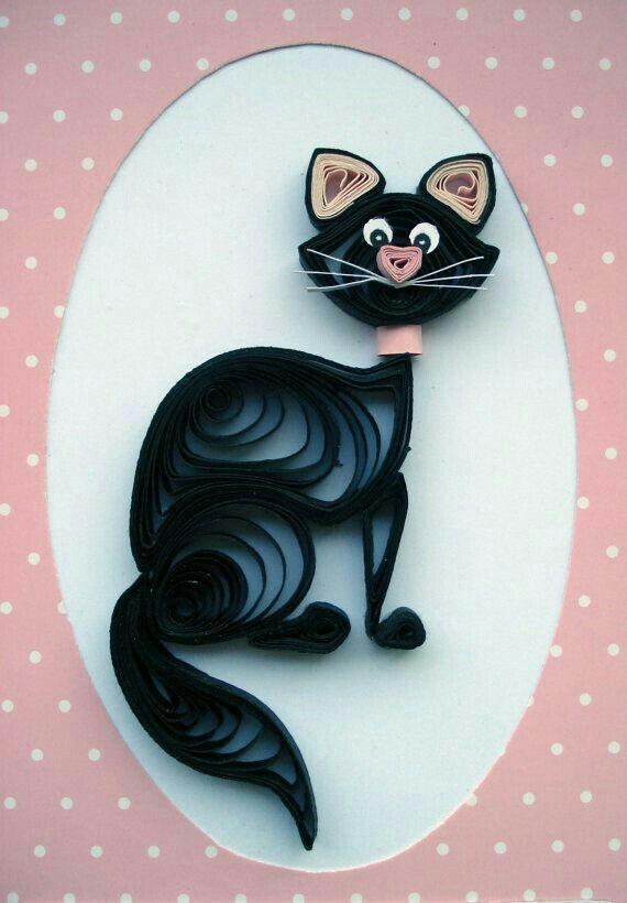 Для, квиллинг картинки коты
