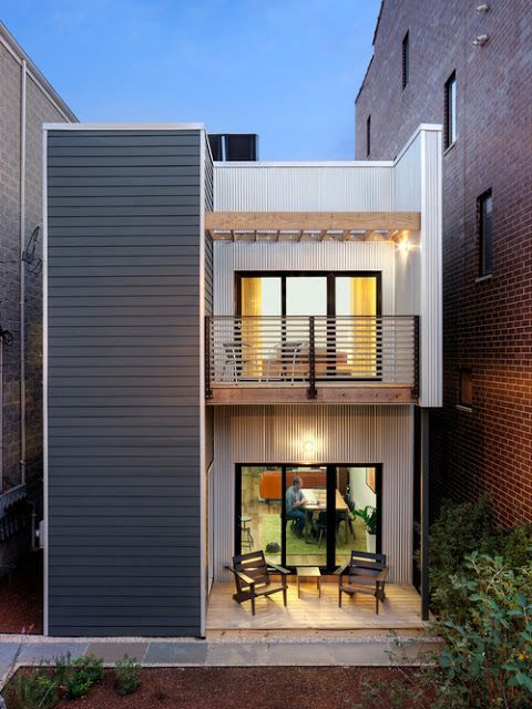 Collection 50 beautiful narrow house design for a 2 story for Homes for small lots