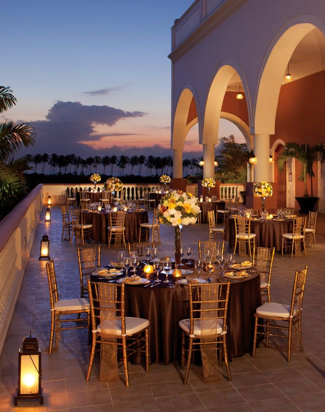 Elegant Caribbean Terrace Wedding Reception  My dream