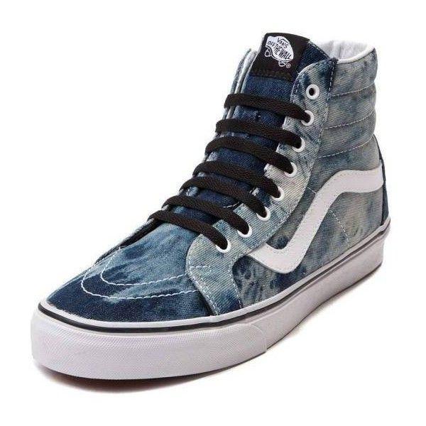 0927d4bf7a NEW Vans Sk8 Hi Skate Shoe Acid Denim High Top ( 80) ❤ liked on Polyvore  featuring shoes