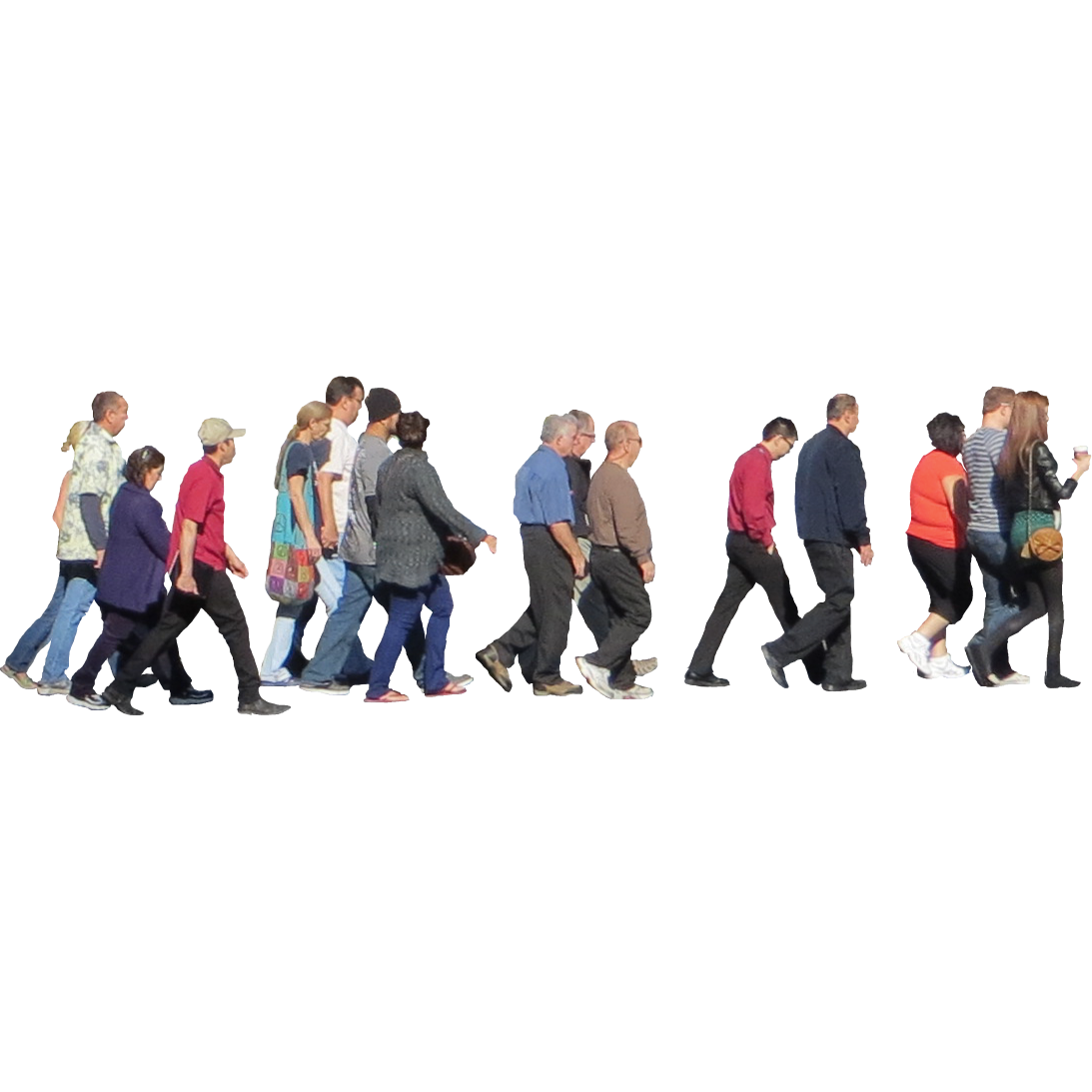 Crowd of people walking photoshop bing images - Crowd Crossing The Street