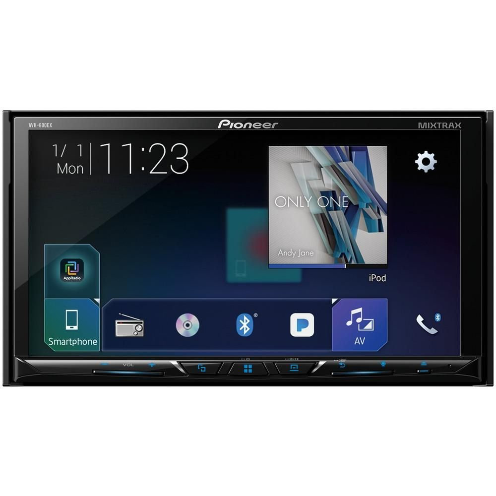 "Pioneer 7"" Doubledin Indash Dvd Receiver With Bluetooth"