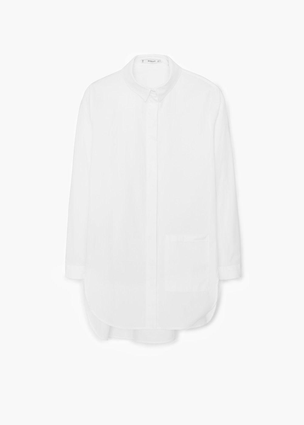Baumwollhemd mit Brusttasche