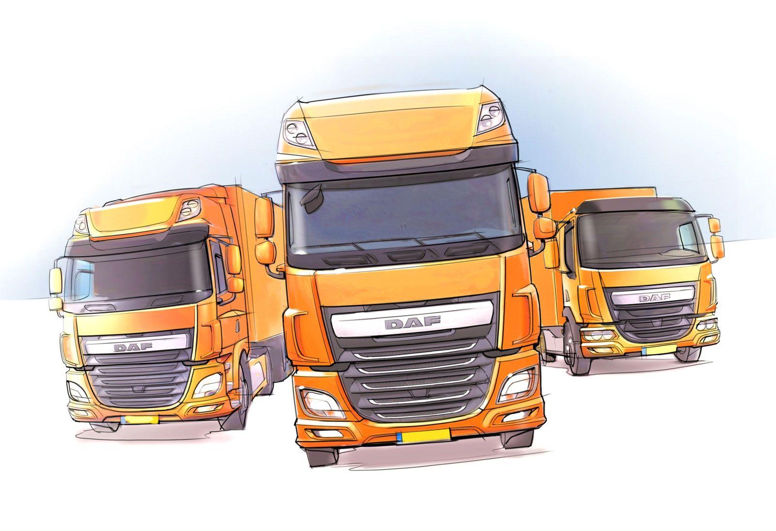 Daf Trucks Range Design Sketch Car Body Design Capitao America Auto Carros