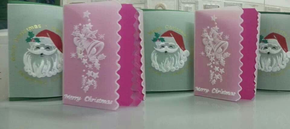 christmas cards  parchment craft