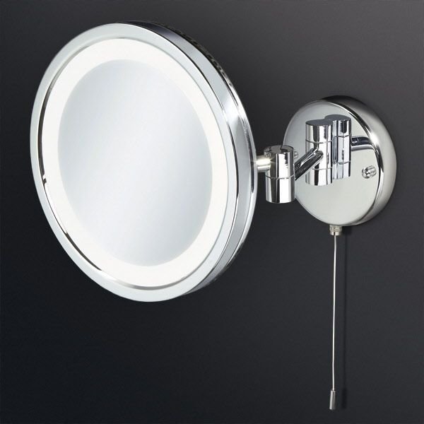 Hib halo led illuminated round magnifying bathroom mirror multi hib halo led illuminated round magnifying bathroom mirror multi pivoted arm 200mmthe hib halo magnifying mozeypictures Gallery