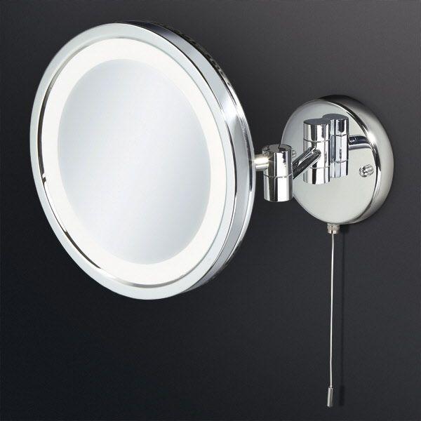 Photo Gallery Website HIB Halo LED Illuminated Round Magnifying Bathroom Mirror Multi pivoted Arm mmThe HIB Halo magnifying