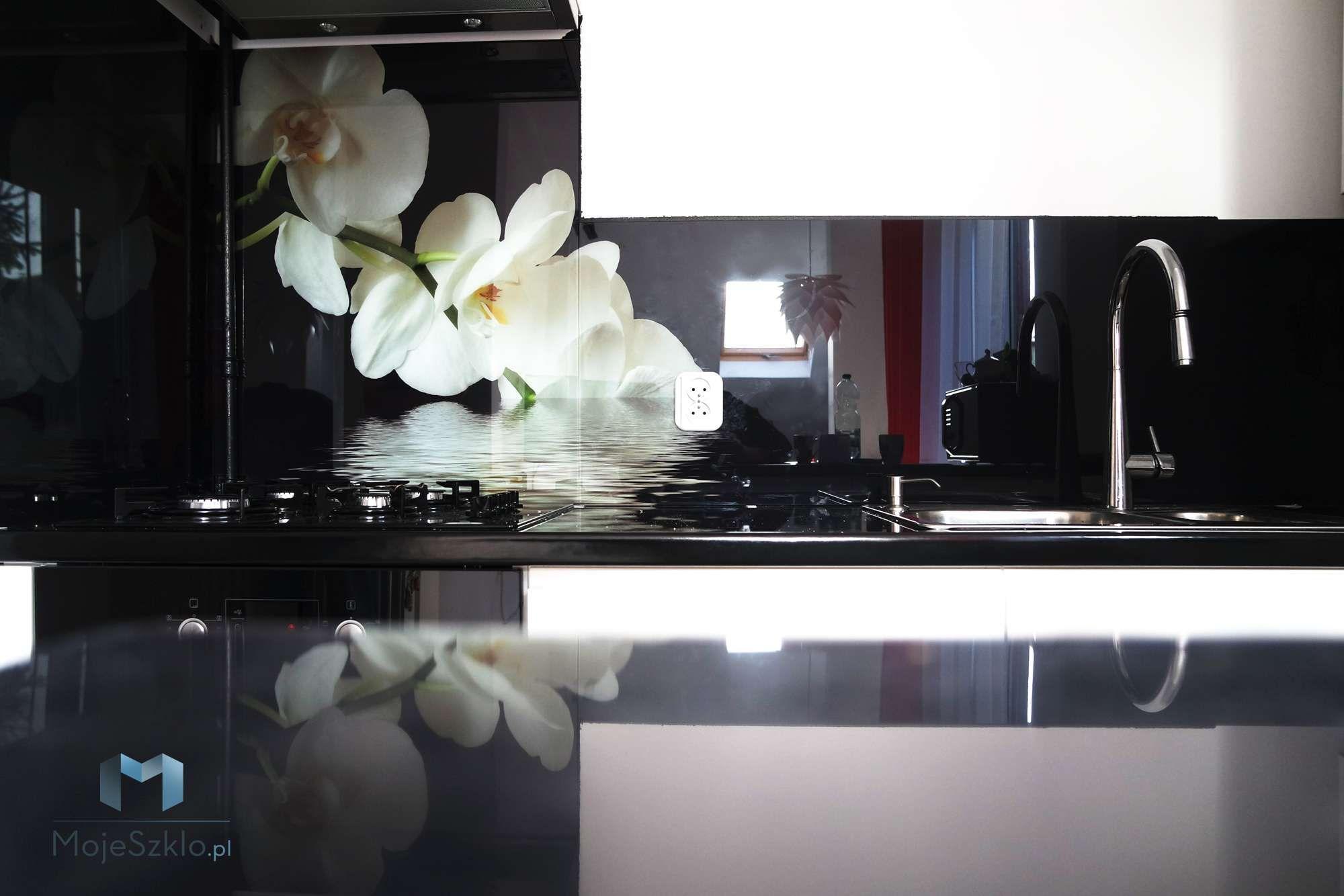 Szklany Panel Orchidea Decor Vanity Mirror Mirror