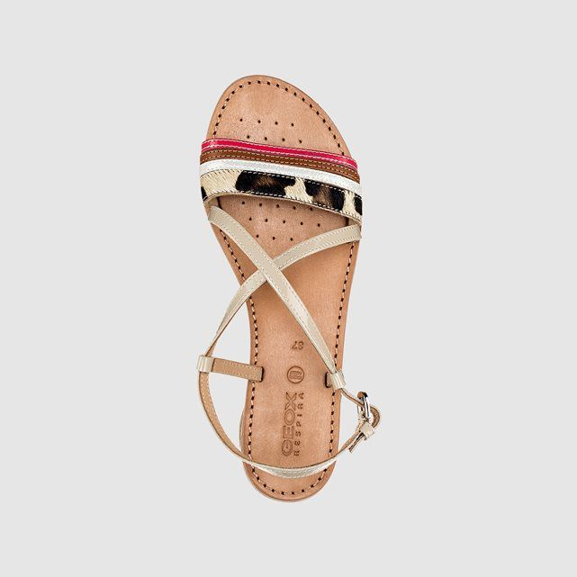 D SOZY O Strappy Sandals with Leopard Detail GEOX | La