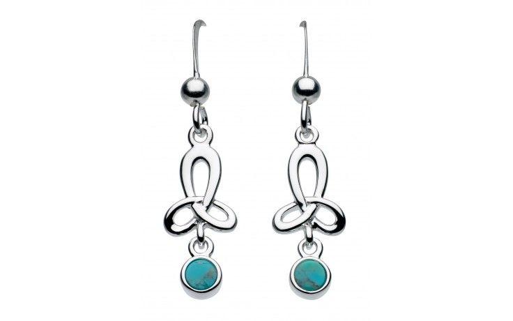 Sterling Silver Heritage Celtic Open Turquoise Trilogy Earrings Item 5206tq015 Retail Price Earrings Designer Silver Jewellery Celtic Earrings