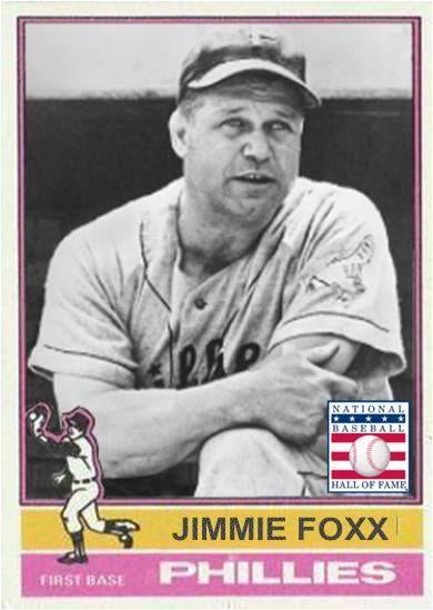 Jimmie Foxx Philadelphia Phillies My Custom Baseball Cards