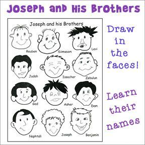 Sunday School Coloring Pages Joseph. Joseph and His Brothers Activity Sheet  Learn the Names of s Craft Church ActivitiesSunday School